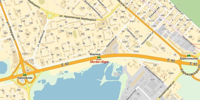 Карта места встречи Вырлыця