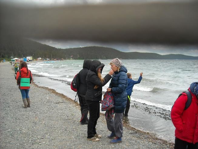 Тургояк и черная полоса урагана