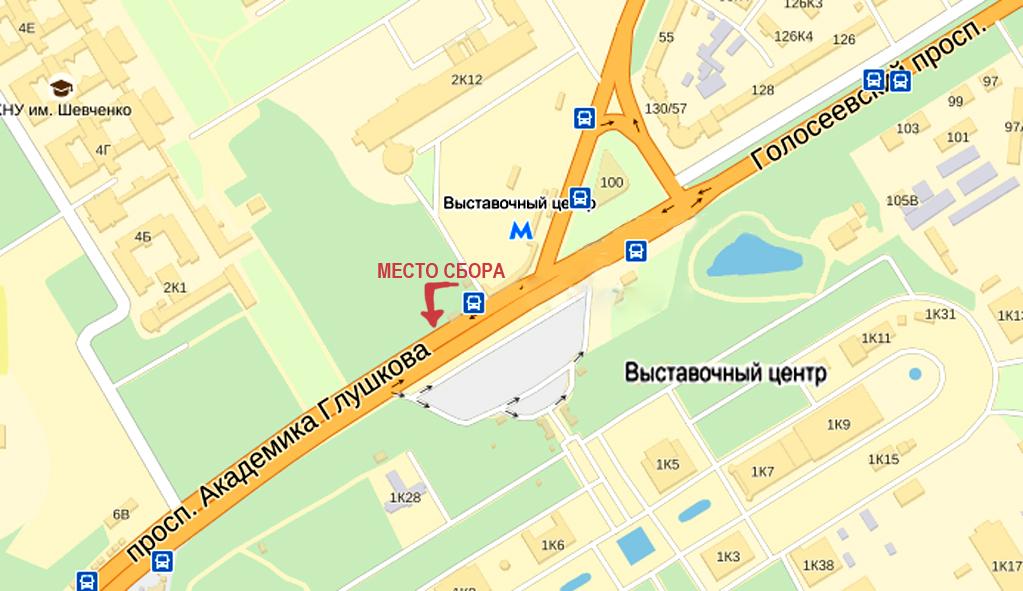 Карта сбора на Выставковом центре